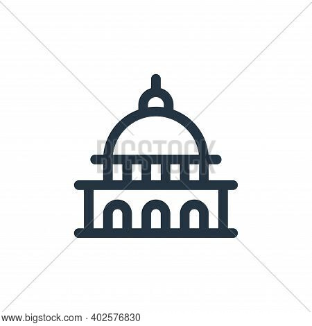 capitol icon isolated on white background. capitol icon thin line outline linear capitol symbol for