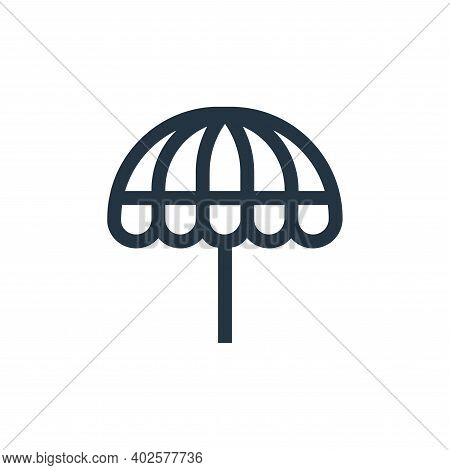 parasol icon isolated on white background. parasol icon thin line outline linear parasol symbol for