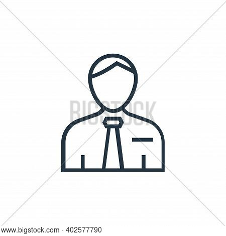 manager icon isolated on white background. manager icon thin line outline linear manager symbol for