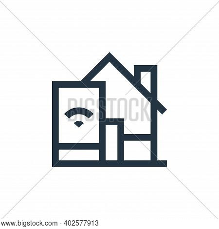 home automation icon isolated on white background. home automation icon thin line outline linear hom