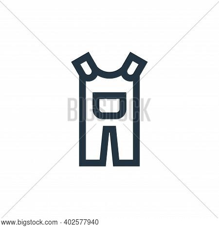 overall icon isolated on white background. overall icon thin line outline linear overall symbol for