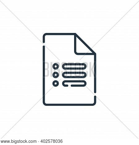 google forms icon isolated on white background. google forms icon thin line outline linear google fo