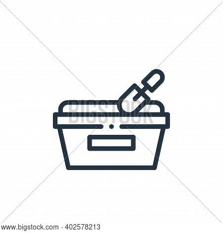 sandbox icon isolated on white background. sandbox icon thin line outline linear sandbox symbol for