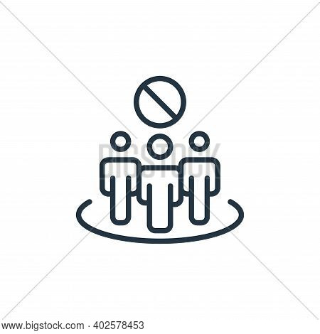 avoid crowds icon isolated on white background. avoid crowds icon thin line outline linear avoid cro