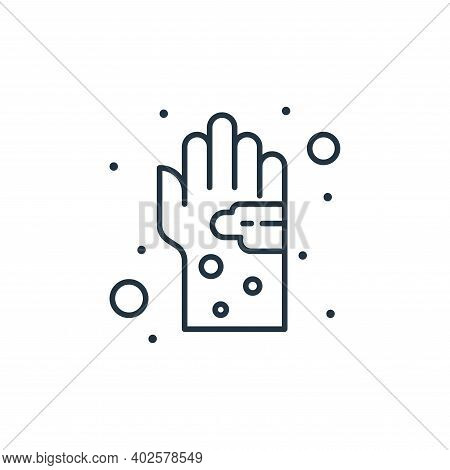 germs icon isolated on white background. germs icon thin line outline linear germs symbol for logo,