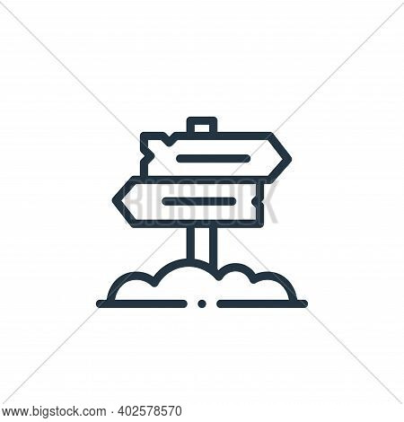 directional sign icon isolated on white background. directional sign icon thin line outline linear d