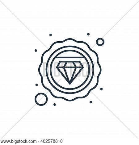 diamond icon isolated on white background. diamond icon thin line outline linear diamond symbol for