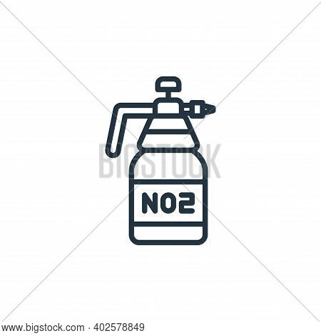 carbon dioxide icon isolated on white background. carbon dioxide icon thin line outline linear carbo