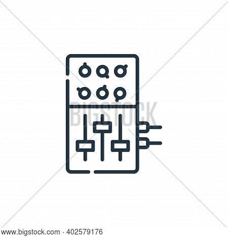 sound mixer icon isolated on white background. sound mixer icon thin line outline linear sound mixer