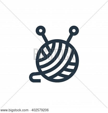 wool icon isolated on white background. wool icon thin line outline linear wool symbol for logo, web