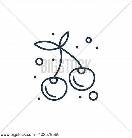 cherry tomato icon isolated on white background. cherry tomato icon thin line outline linear cherry