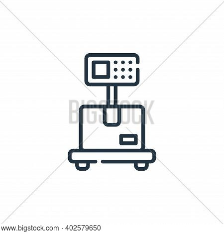 weighing scale icon isolated on white background. weighing scale icon thin line outline linear weigh