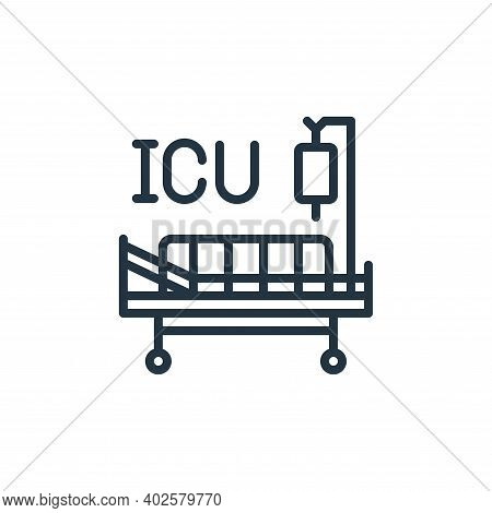 intensive care unit icon isolated on white background. intensive care unit icon thin line outline li