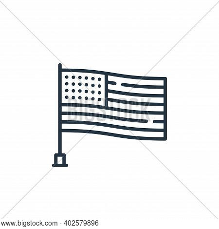 united states of america icon isolated on white background. united states of america icon thin line