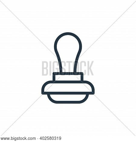 stamp icon isolated on white background. stamp icon thin line outline linear stamp symbol for logo,
