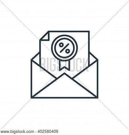 envelope icon isolated on white background. envelope icon thin line outline linear envelope symbol f