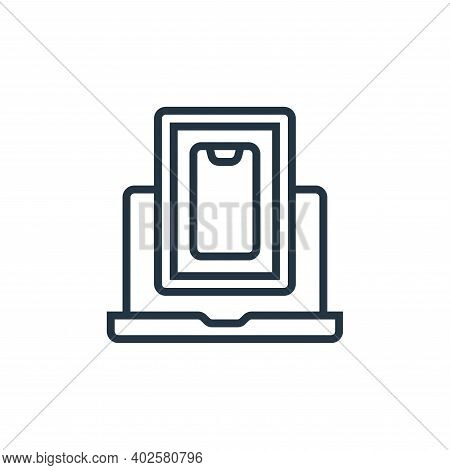devices icon isolated on white background. devices icon thin line outline linear devices symbol for