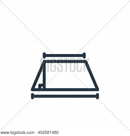 geometry icon isolated on white background. geometry icon thin line outline linear geometry symbol f