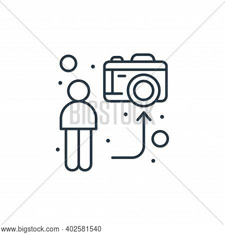streaming icon isolated on white background. streaming icon thin line outline linear streaming symbo