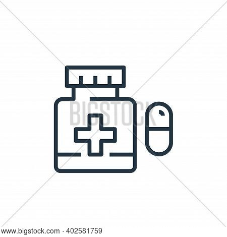 medicine icon isolated on white background. medicine icon thin line outline linear medicine symbol f