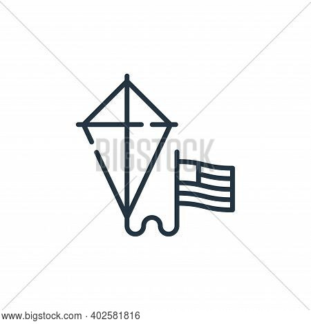 kite icon isolated on white background. kite icon thin line outline linear kite symbol for logo, web
