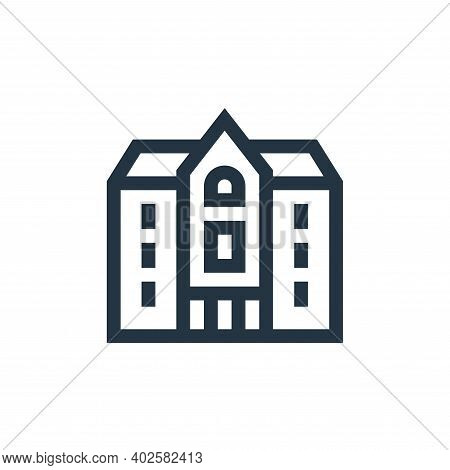 mansion icon isolated on white background. mansion icon thin line outline linear mansion symbol for