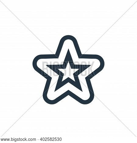 starfish icon isolated on white background. starfish icon thin line outline linear starfish symbol f