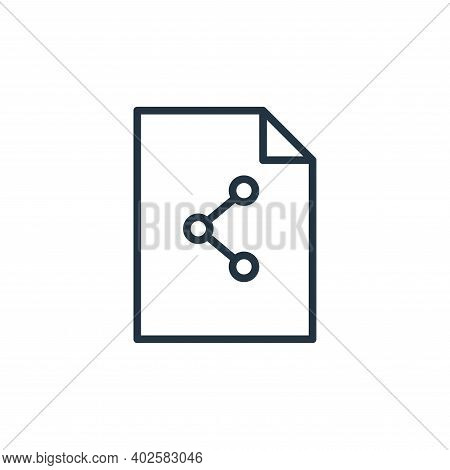 share icon isolated on white background. share icon thin line outline linear share symbol for logo,