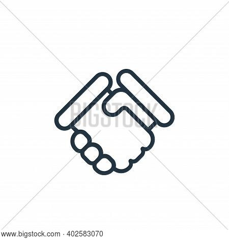 deal icon isolated on white background. deal icon thin line outline linear deal symbol for logo, web