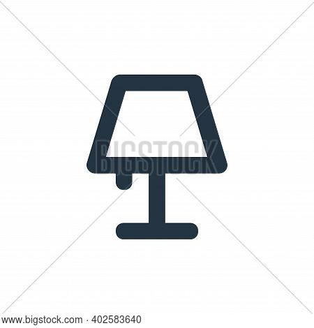 table lamp icon isolated on white background. table lamp icon thin line outline linear table lamp sy
