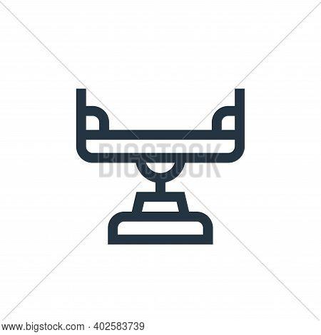 balancer icon isolated on white background. balancer icon thin line outline linear balancer symbol f