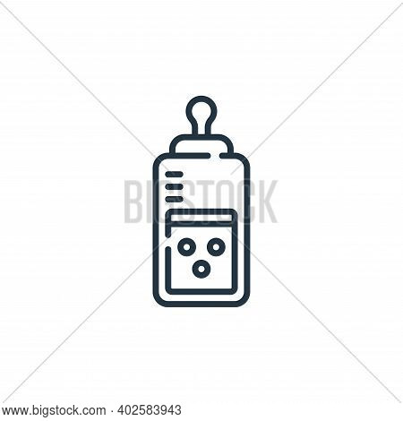 feeding bottle icon isolated on white background. feeding bottle icon thin line outline linear feedi