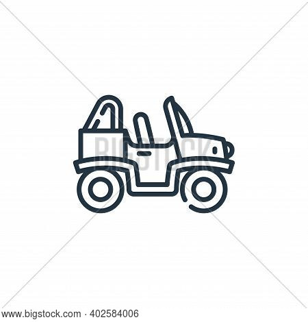 buggy icon isolated on white background. buggy icon thin line outline linear buggy symbol for logo,