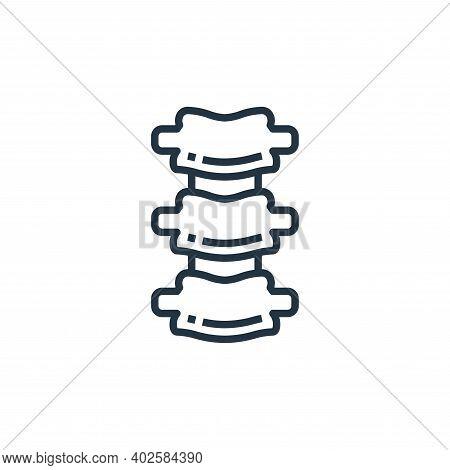 bone icon isolated on white background. bone icon thin line outline linear bone symbol for logo, web