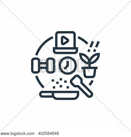 hobbies icon isolated on white background. hobbies icon thin line outline linear hobbies symbol for