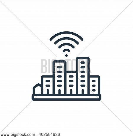 smart city icon isolated on white background. smart city icon thin line outline linear smart city sy