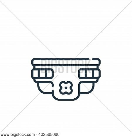diaper icon isolated on white background. diaper icon thin line outline linear diaper symbol for log