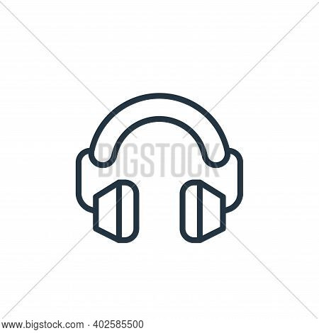 ear protection icon isolated on white background. ear protection icon thin line outline linear ear p