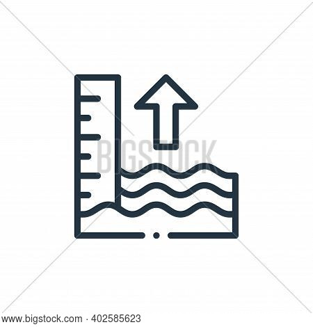 tide icon isolated on white background. tide icon thin line outline linear tide symbol for logo, web