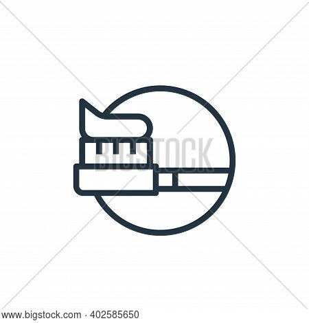 Tooth Brush icon isolated on white background. Tooth Brush icon thin line outline linear Tooth Brush