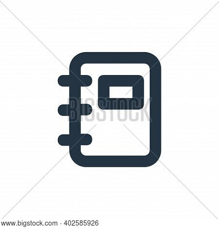 notebook icon isolated on white background. notebook icon thin line outline linear notebook symbol f