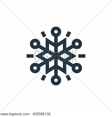 snowflakes icon isolated on white background. snowflakes icon thin line outline linear snowflakes sy