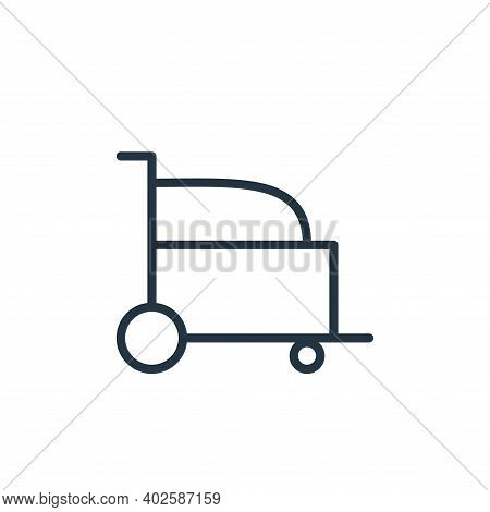 wheel chair icon isolated on white background. wheel chair icon thin line outline linear wheel chair