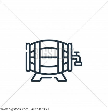beer keg icon isolated on white background. beer keg icon thin line outline linear beer keg symbol f