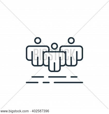 team icon isolated on white background. team icon thin line outline linear team symbol for logo, web