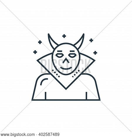 evil icon isolated on white background. evil icon thin line outline linear evil symbol for logo, web