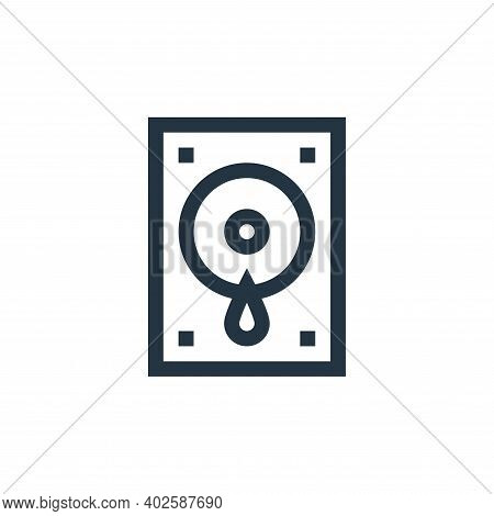 pc icon isolated on white background. pc icon thin line outline linear pc symbol for logo, web, app,