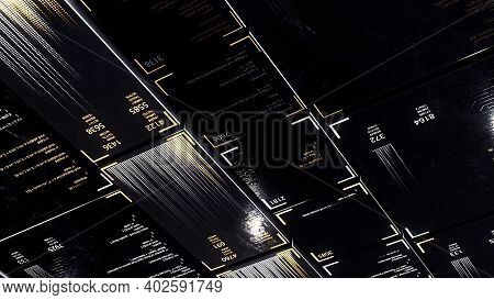 Encrypted Fast Long Scrolling Programming Security Hacking Code On Black Background, Seamless Loop.