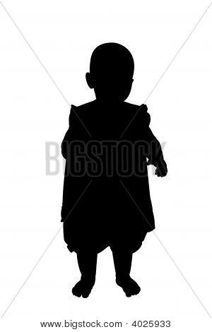 Little Girl Sihouette Illustration