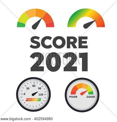 Gauge Chart Meter. Good And Poor Indicator. Credit Level Score